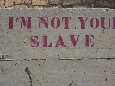 Quote which reads I'm not your slave