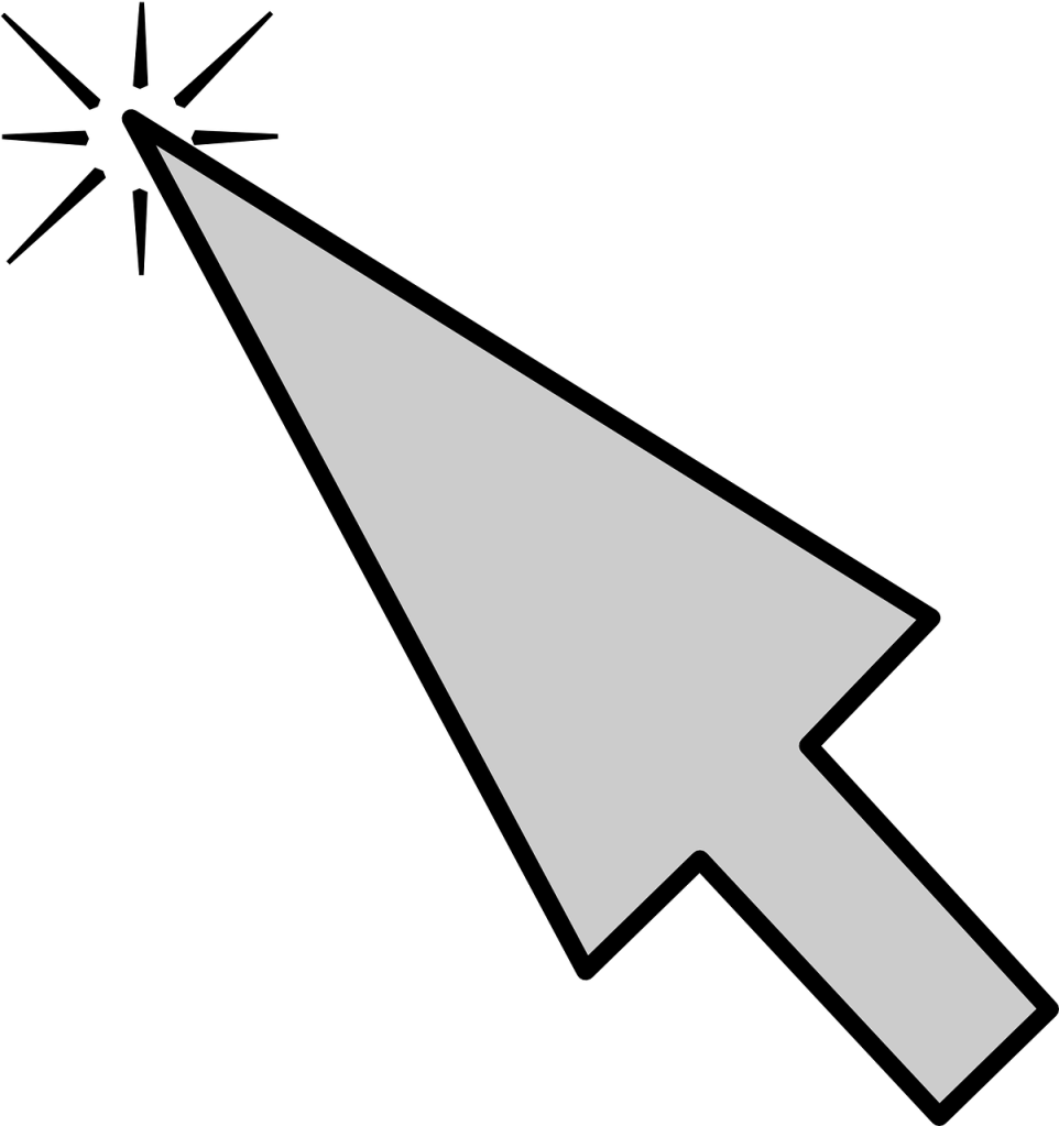Picture of a computer mouse pointer